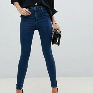 ASOS Ridley dark blue skinny jeans 26